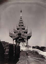 The Pyatthat over the Yanhnin Gate of the Western City Wall, [Mandalay]